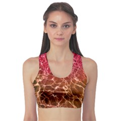 Background Water Abstract Red Wallpaper Sports Bra