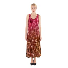 Background Water Abstract Red Wallpaper Sleeveless Maxi Dress