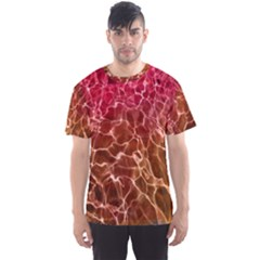 Background Water Abstract Red Wallpaper Men s Sport Mesh Tee
