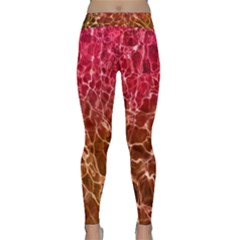 Background Water Abstract Red Wallpaper Classic Yoga Leggings