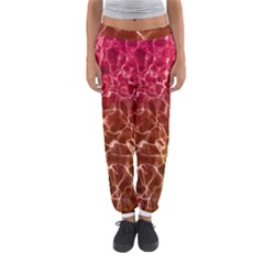 Background Water Abstract Red Wallpaper Women s Jogger Sweatpants
