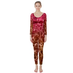 Background Water Abstract Red Wallpaper Long Sleeve Catsuit