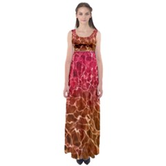 Background Water Abstract Red Wallpaper Empire Waist Maxi Dress