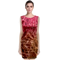 Background Water Abstract Red Wallpaper Classic Sleeveless Midi Dress