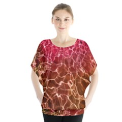 Background Water Abstract Red Wallpaper Blouse