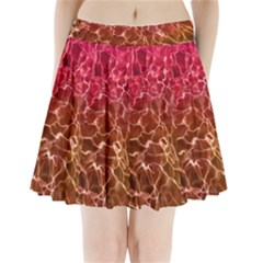 Background Water Abstract Red Wallpaper Pleated Mini Skirt