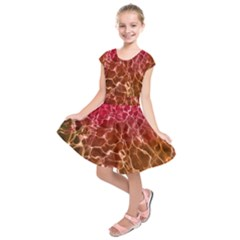 Background Water Abstract Red Wallpaper Kids  Short Sleeve Dress