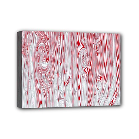 Abstract Swirling Pattern Background Wallpaper Pattern Mini Canvas 7  X 5