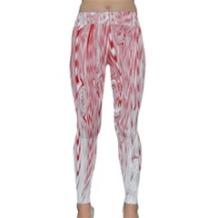 Abstract Swirling Pattern Background Wallpaper Pattern Classic Yoga Leggings