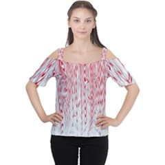 Abstract Swirling Pattern Background Wallpaper Pattern Women s Cutout Shoulder Tee