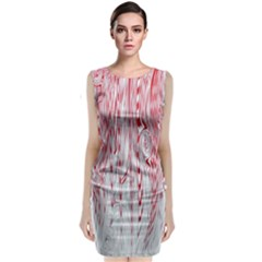 Abstract Swirling Pattern Background Wallpaper Pattern Classic Sleeveless Midi Dress