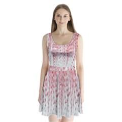Abstract Swirling Pattern Background Wallpaper Pattern Split Back Mini Dress