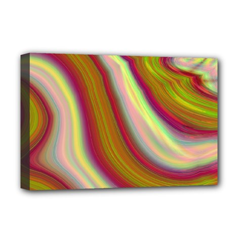 Artificial Colorful Lava Background Deluxe Canvas 18  X 12