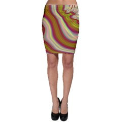 Artificial Colorful Lava Background Bodycon Skirt