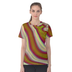 Artificial Colorful Lava Background Women s Cotton Tee