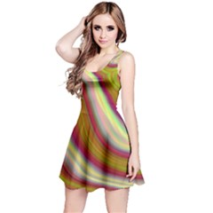 Artificial Colorful Lava Background Reversible Sleeveless Dress