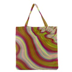 Artificial Colorful Lava Background Grocery Tote Bag