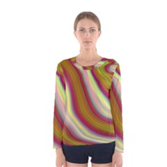 Artificial Colorful Lava Background Women s Long Sleeve Tee