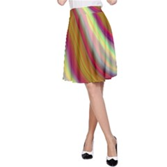 Artificial Colorful Lava Background A Line Skirt