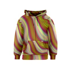 Artificial Colorful Lava Background Kids  Zipper Hoodie