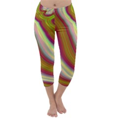 Artificial Colorful Lava Background Capri Winter Leggings