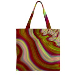 Artificial Colorful Lava Background Zipper Grocery Tote Bag