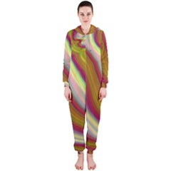 Artificial Colorful Lava Background Hooded Jumpsuit (ladies)
