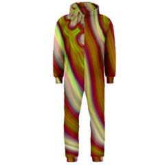 Artificial Colorful Lava Background Hooded Jumpsuit (Men)