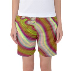 Artificial Colorful Lava Background Women s Basketball Shorts