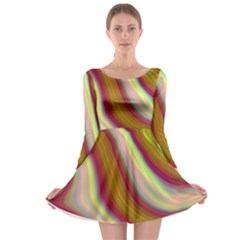 Artificial Colorful Lava Background Long Sleeve Skater Dress