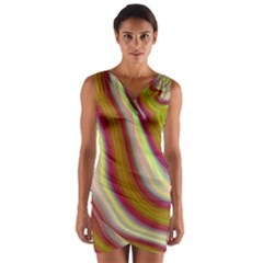 Artificial Colorful Lava Background Wrap Front Bodycon Dress