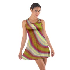 Artificial Colorful Lava Background Cotton Racerback Dress