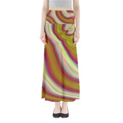 Artificial Colorful Lava Background Maxi Skirts