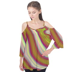 Artificial Colorful Lava Background Flutter Tees