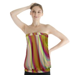 Artificial Colorful Lava Background Strapless Top