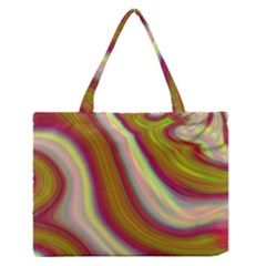 Artificial Colorful Lava Background Medium Zipper Tote Bag