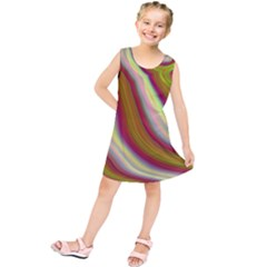 Artificial Colorful Lava Background Kids  Tunic Dress