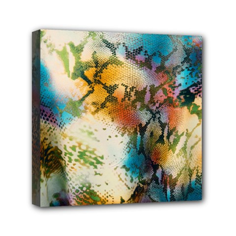 Abstract Color Splash Background Colorful Wallpaper Mini Canvas 6  X 6