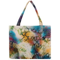 Abstract Color Splash Background Colorful Wallpaper Mini Tote Bag