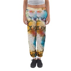 Abstract Color Splash Background Colorful Wallpaper Women s Jogger Sweatpants