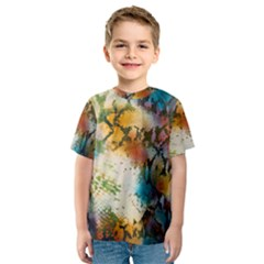 Abstract Color Splash Background Colorful Wallpaper Kids  Sport Mesh Tee