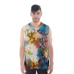 Abstract Color Splash Background Colorful Wallpaper Men s Basketball Tank Top