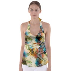 Abstract Color Splash Background Colorful Wallpaper Babydoll Tankini Top
