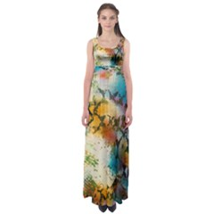 Abstract Color Splash Background Colorful Wallpaper Empire Waist Maxi Dress