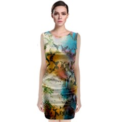 Abstract Color Splash Background Colorful Wallpaper Classic Sleeveless Midi Dress