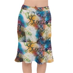 Abstract Color Splash Background Colorful Wallpaper Mermaid Skirt