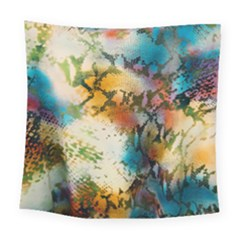 Abstract Color Splash Background Colorful Wallpaper Square Tapestry (large)