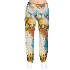 Abstract Color Splash Background Colorful Wallpaper Drawstring Pants