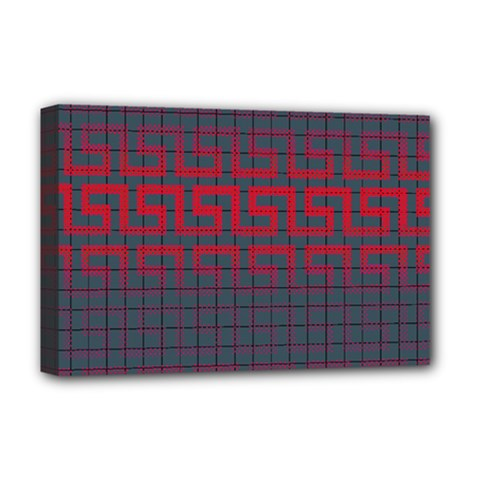 Abstract Tiling Pattern Background Deluxe Canvas 18  X 12