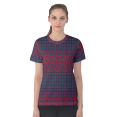 Abstract Tiling Pattern Background Women s Cotton Tee